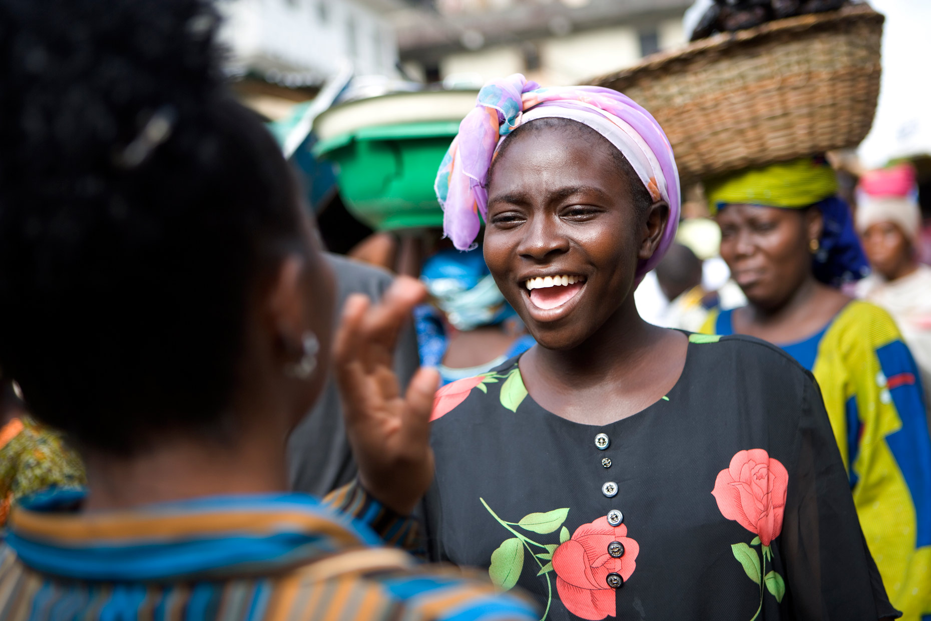 Woman in market in Lagos
