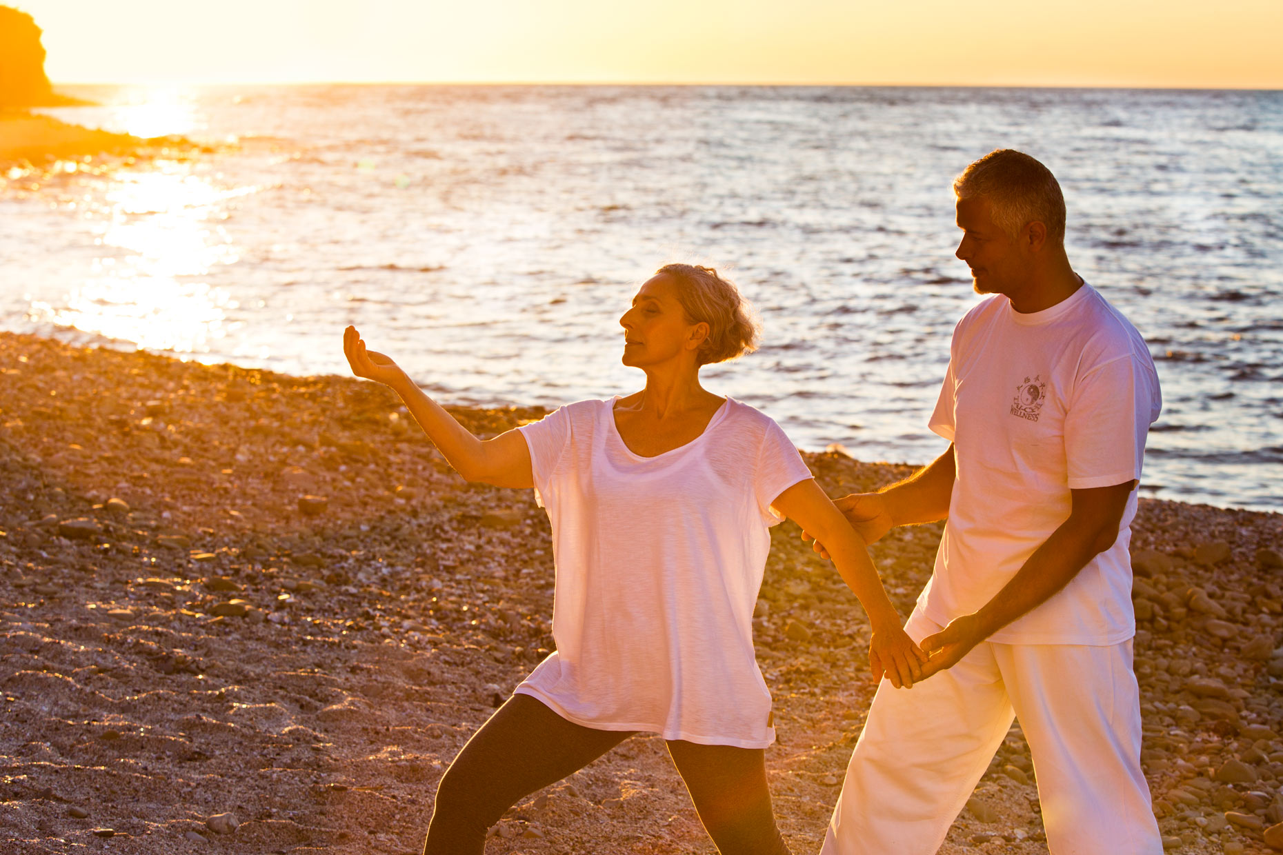 tai chi on beach