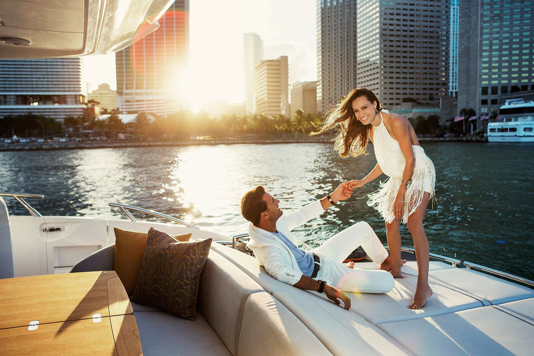 princess-yachts-couple-on-boat